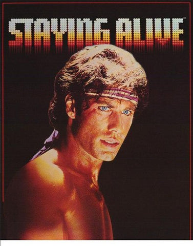 Staying Alive John Travolta 1983 Rare Vintage Poster