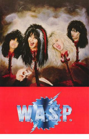 W.A.S.P.  WASP Stick Heads 1986 Rare Poster