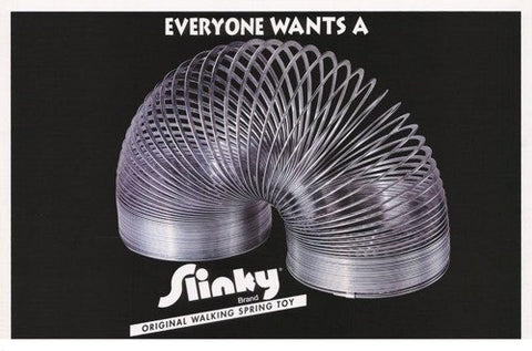 Slinky Spring Toy Everyone Wants a Slinky Advertisement  Rare Vintage Poster