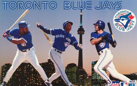 Toronto Blue Jays 3 Players  Rare Poster