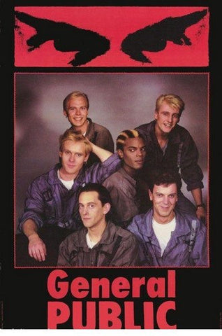 General Public Band 1985 Rare Poster