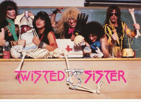 Twisted Sister Band   1985 Rare Vintage  Poster