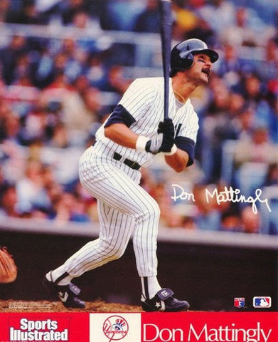 Don Mattingly new York Yankees 1991 Rare Vintage Poster