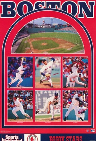 Boston Red Sox All Stars 1992 Rare Vintage Poster