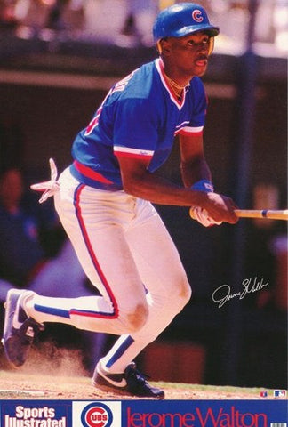 Jerome Walton Chicago Cubs 1989 Rare Vintage Poster