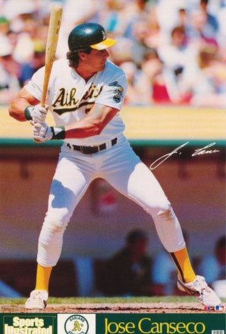 Jose Conseco Oakland Athletics 1989 Rare Vintage Poster