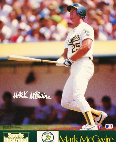 Mark McGwire Oakland Athletics 1989 Rare Vintage Poster