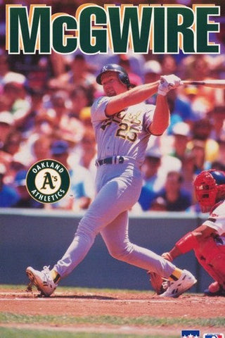 Mark McGwire Oakland Athletics 1993 Rare Vintage Poster