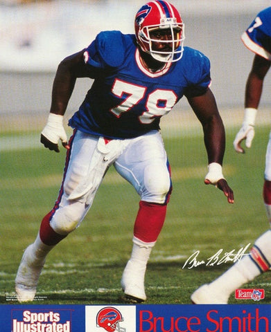 Bruce Smith Buffalo Bills 1991 Rare Vintage Poster