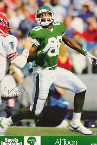 Al Toon New York Jets Sports Illustrated 1989 Rare Vintage Poster
