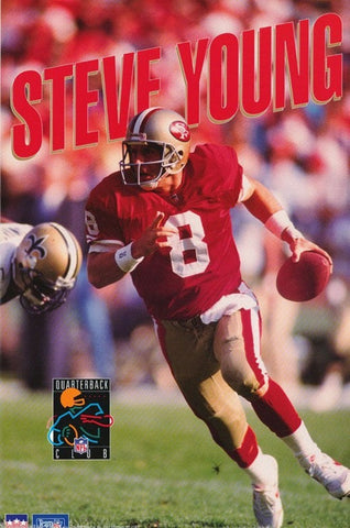 Steve Young San Francisco 49ers 1993  Rare Vintage Poster
