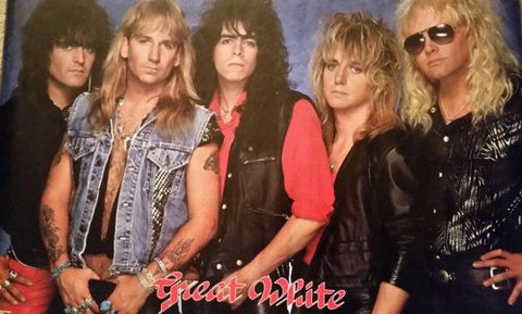 Great White Band 1988 Rare Vintage Poster