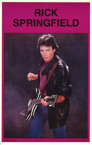 Rick Springfield 1982 Color  Rare Poster