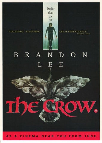 The Crow 1994 Color  Rare Poster