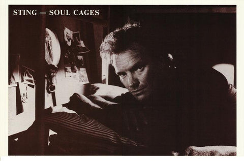Sting Soul Cages 1991 Rare Poster