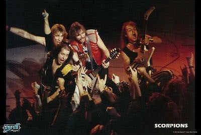 The Scorpions Live Color  Rare Vintage Poster