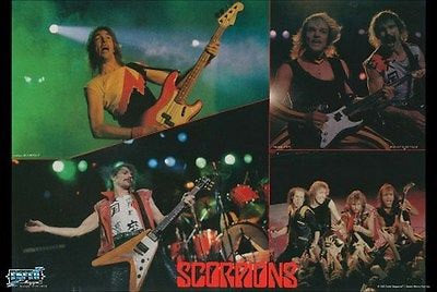 The Scorpions Collage  Color  Rare Vintage Poster