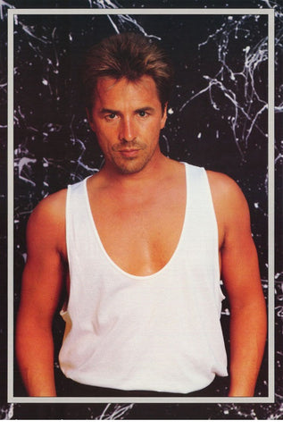 Don Johnson Miami Vice Tank Top 1986 Rare Poster