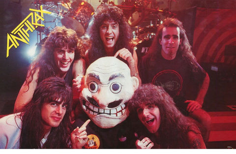 Anthrax Band Puppet 1988  Rare Poster