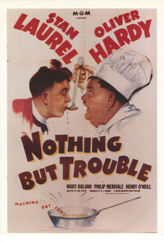 Laurel and Hardy Nothing But Trouble   Rare Poster
