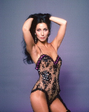 Cher Black Lace Color 8x10 Photograph