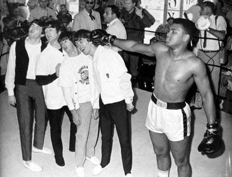 The Beatles With Muhammad Ali 8x10 Photograph