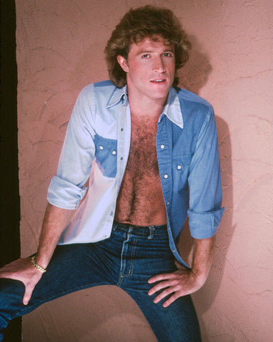 Andy Gibb Blue Open Shirt 8x10 Photograph