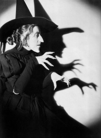 Wizard Of Oz Wicked Witch Of The West Shadows On The Wall B/W 8x10 Photograph