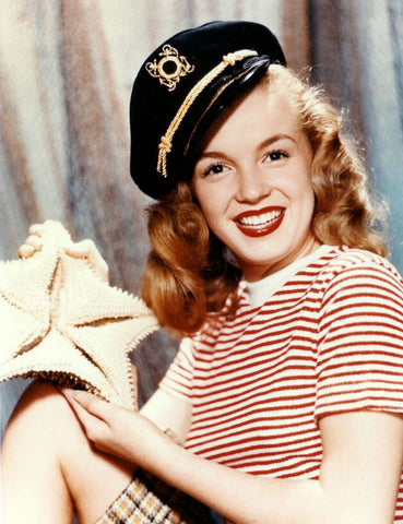 Marilyn Monroe Captains Hat 8x10 Photograph