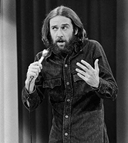 George Carlin B/W 8x10 Photograph