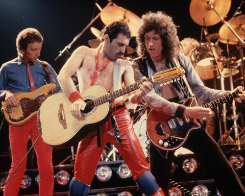 Queen Freddie Mercury Brian May Color 8x10 Photograph