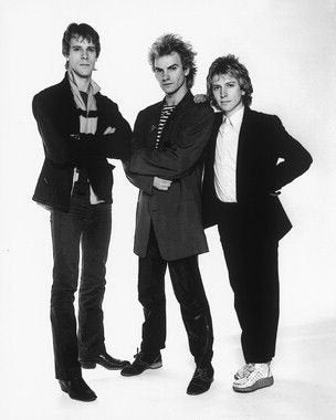 Sting And The Police B/W 8x10 Photograph