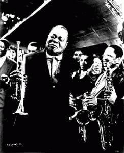 Louis Armstrong Color 8x10 Photograph