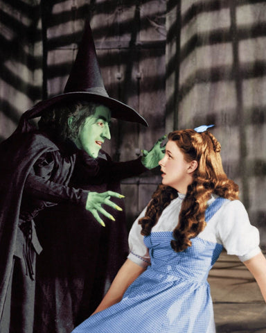 Wizard Of Oz Dorothy and The Wicked Witch Of The West 8x10 Photograph