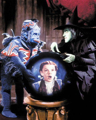Wizard Of Oz Wicked Witch and Flying Monkey Color 8x10 Photograph
