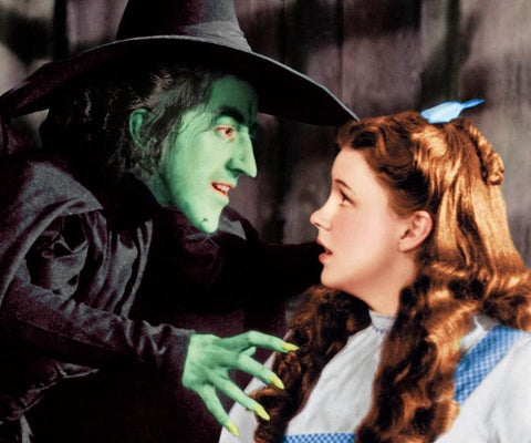 Wizard Of Oz Wicked Witch and Dorothy Color 8x10 Photograph