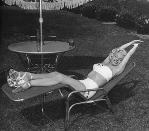 Marilyn Monroe White 2 Piece Swimsuit 8x10 Photograph
