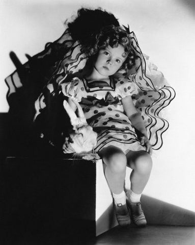 Shirley Temple Polka Dot Dress  8x10 Photograph