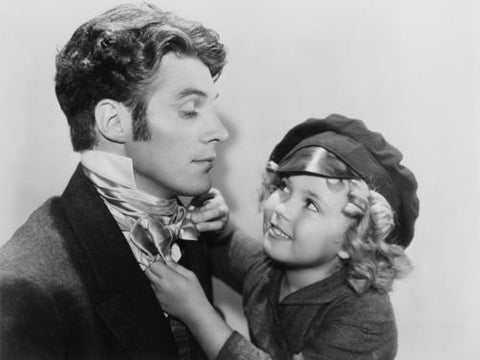Shirley Temple Straightening Tie  8x10 Photograph