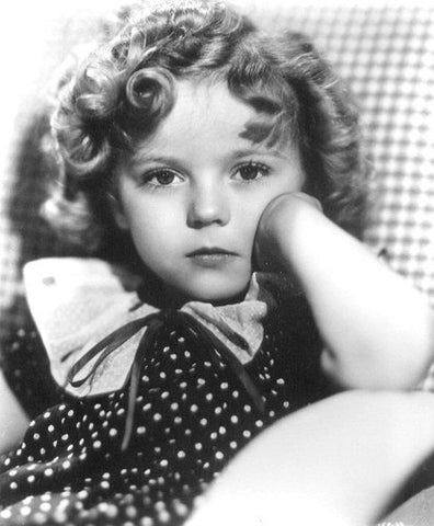 Shirley Temple Face Resting On Hand  8x10 Photograph