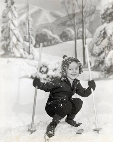 Shirley Temple On Skis 8x10 Photograph