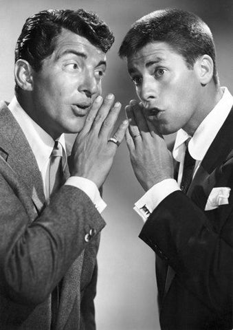 Jerry Lewis and Dean Martin Whispering 8x10 Photograph