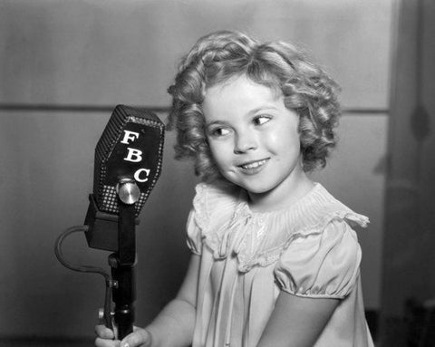 Shirley Temple At Microphone  8x10 Photograph