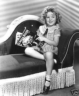 Shirley Temple Reading Movie Star Magazine  8x10 Photograph