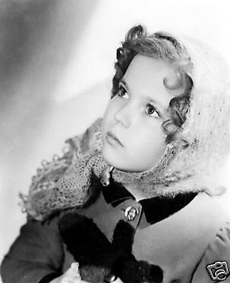 Shirley Temple Coat And Scarf  8x10 Photograph