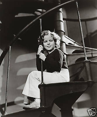 Shirley Temple Winding Staircase  8x10 Photograph