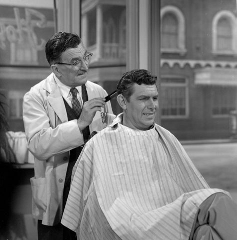 Andy Griffith and Floyd The Barber Getting A Haircut 8x10 Photograph