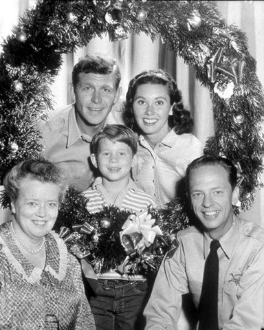 Andy Griffith Christmas Wreath 8x10 Photograph