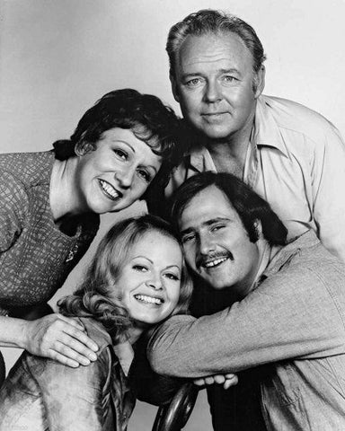 All In The Family Carroll O'Conner Jean Stapleton Rob Reiner Sally Struthers  8x10 Photograph