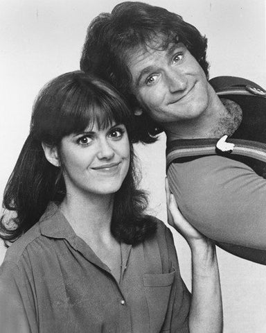 Mork And Mindy Robin Williams Pam Dawber B/W 8x10 Photograph